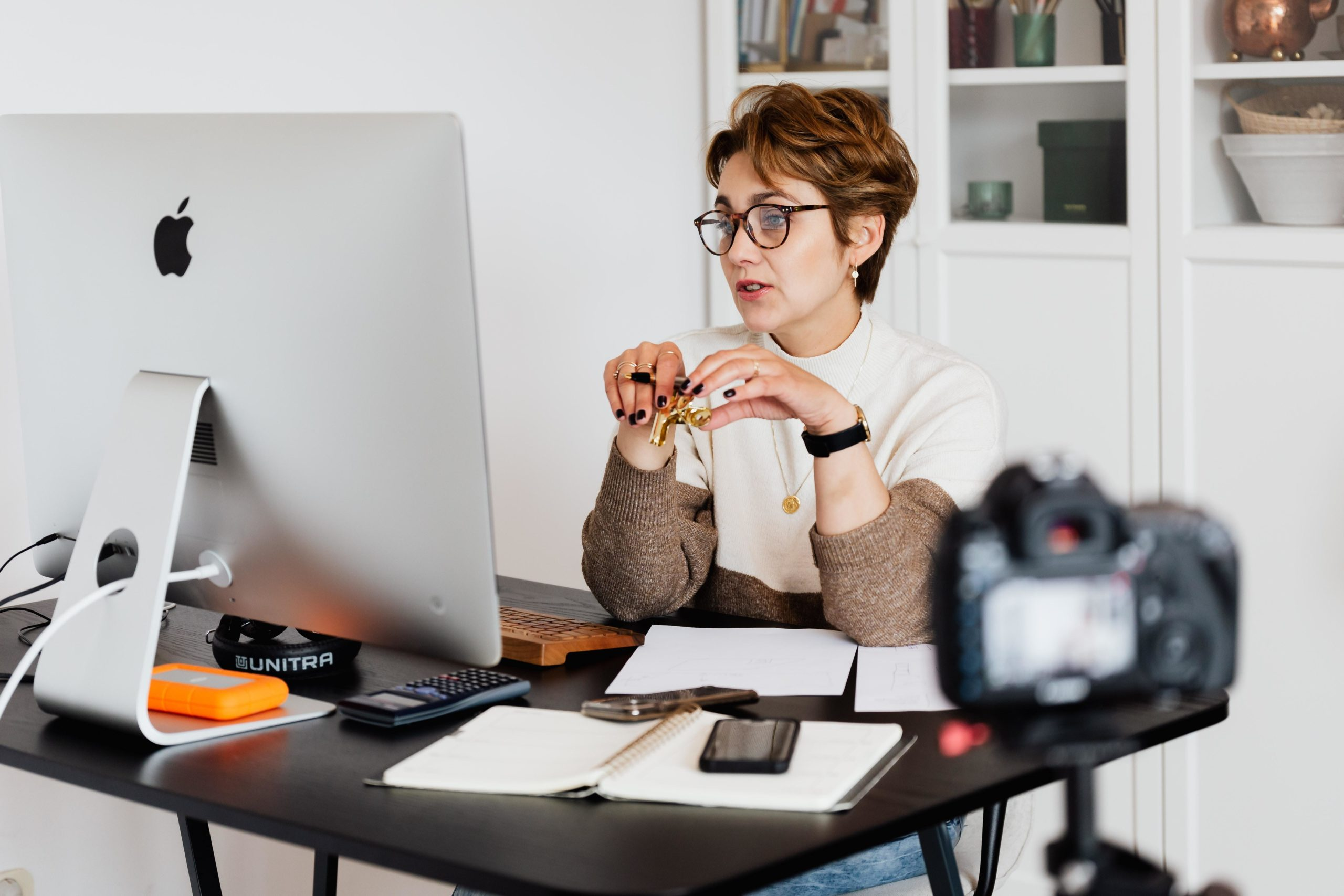 women on a video conference