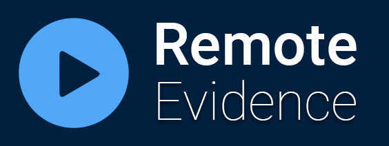 text saying remote evidence with play button
